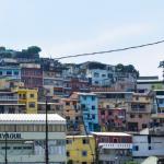 Colorful houses in Cuenca, Ecuador